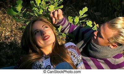 Flirt Young Couple