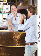 flirten, barista, man