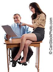 Flirter collegue