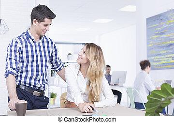 flirter, travail