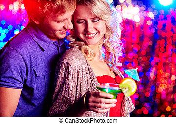 Flirting at party