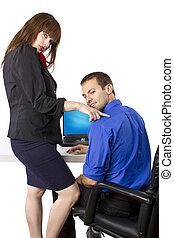 Flirting Co-Worker