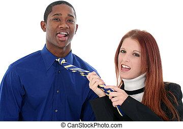 Flirting Interracial Couple