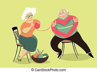 Flirting senior citizens