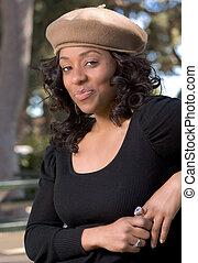 Flirty girl - Portrait of Flirty African-American girl ...