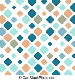 flise, firkantet, farverig, mosaik, baggrund