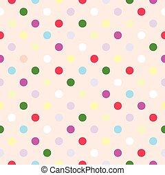 flise, prikker, vektor, polka, mønster