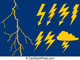 flits, achtergrond, lightning