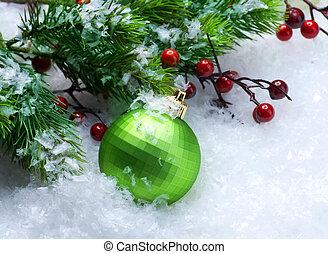 flitter, aus, schnee, hintergrund, weihnachten