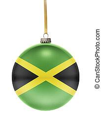 flitter, mit, der, fahne, design, von, jamaica.(series)