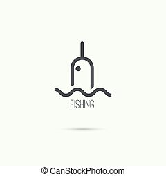 Float, fishing line.