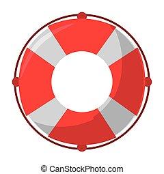 Float lifesaver cartoon isolated symbol