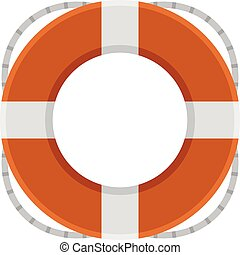 Float of rescue - Vector illustration.
