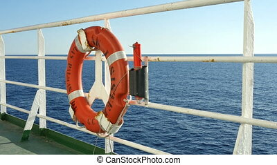 Float on the Deck of a Cruise Boat