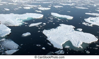 Floated next to an ice floe icebreaker in Arctic.