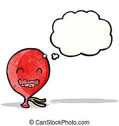 floating balloon cartoon character