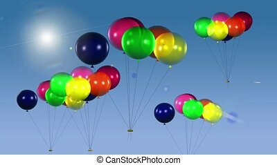 Floating Balloon Clusters
