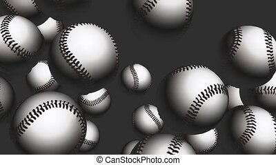 Floating baseballs in motion