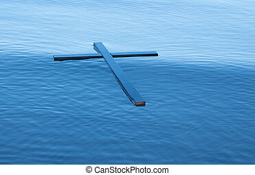 Floating Black Cross