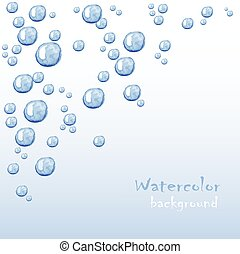 Floating bubbles. Beautiful vector background