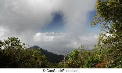 Montecristo in El Salvador - Floating clouds in the...