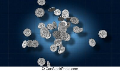 Floating coins