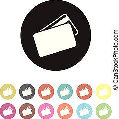 floating credit card icon set
