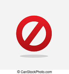 Floating Do Not Sign - Floating red cross out do not sign