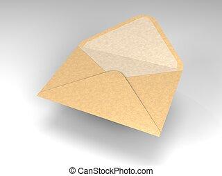 floating envelope for mail