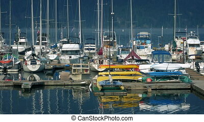 Floating Harbor With Many Boats
