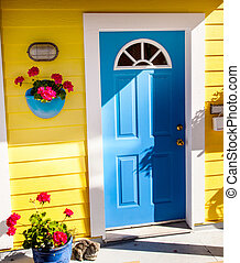 Floating Home Village Yellow Blue Door Houseboat Fisherman's Wha