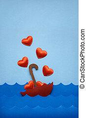 Floating in love sea.