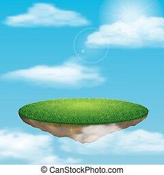 Floating island in sky