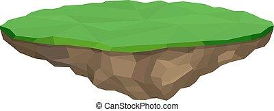 Floating island isolated