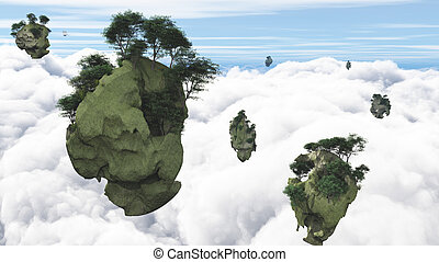 Floating Islands - Islands float above the clouds