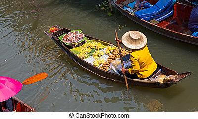 Floating Market - Damnoen Saduak floating market in ...