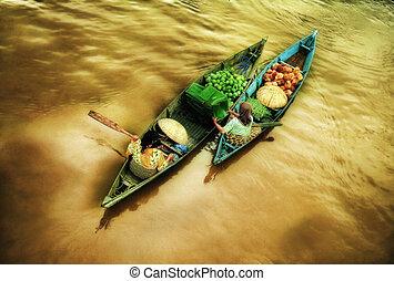 Floating market - floating market activity
