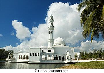 Floating mosque at Terengganu, Malaysia