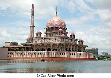 Floating Mosque in Putrajaya Malays - The floating mosque in...