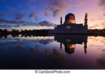 Floating mosque in Sabah, Borneo, Malaysia