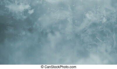 Floating organic dust liquid particles abstract background.