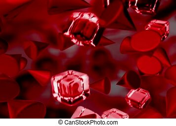 Floating Red Cubes