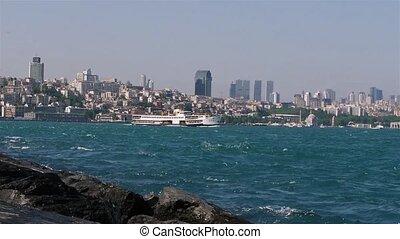 Floating ship. Bosphorus.
