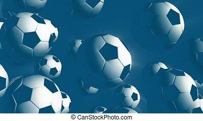 Floating soccer balls