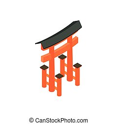 Floating Torii gate, Japan icon