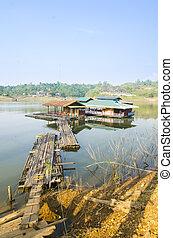 floating village in Kanchanaburi Province, Thailand