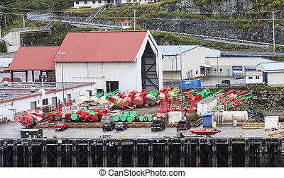 Floats and Buoys on Dock