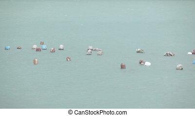 Floats oyster farm