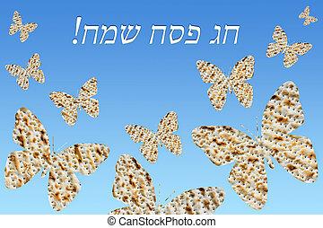 flock of butterflies from matzo - flock of butterflies on a...