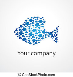 flock-of-fishes - symbol of the company - a flock of fishes